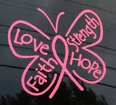 breast cancer ribbon butterfly a1 decal sticker custom sticker shop