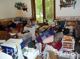 Cluttered House Hoarding Or Chronically Disorganized Archives Organize With