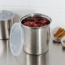 Metal Containers With Lids For Storage - shop 2 7 qt stainless steel food storage container with snap on