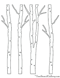 birch tree stencil free printable pictures of trees without leaves