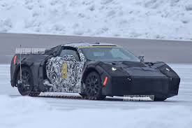 newest corvette engine spied mid engine chevrolet corvette winter testing with