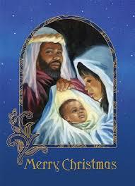 merry nativity american card box