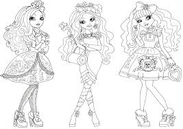 free printable ever after high coloring pages in cerise coloring
