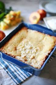sweet southern peach cobbler flirting with flavor