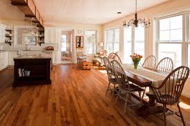 hickory hardwood flooring dining room traditional with distressed