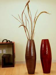 living room modern living room vases with red and brown plywood