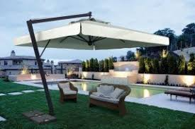Big Umbrella For Patio Rectangular Patio Umbrellas Foter