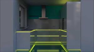 led beleuchtung küche küche rgb led beleuchtung in einer einbauküche in marl