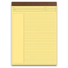 freeleaf yellow annotation ruled pads letter paper levenger