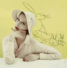 vintage glamour editorial features andy warhol rabbit sketches