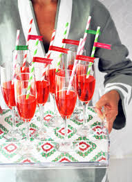 welcome guests with champagne cocktails holidayentertaining