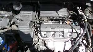 wrecking 2005 honda civic engine 1 7 automatic j14462 youtube