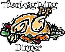church thanksgiving meal clipart