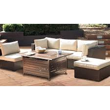 Outdoor Furniture With Fire Pit Table by Belham Living Marcella All Weather Wicker 6 Piece Sectional Fire