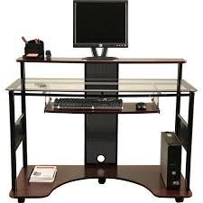 Z Line Designs Computer Desk Easton Workstation Cherry Walmart Com