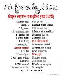 31 family ties printable list
