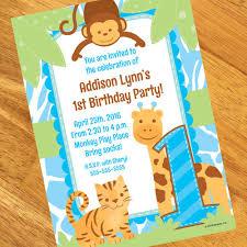 safari 1st birthday boy personalized tri fold invitation