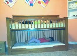 How To Convert A Crib Into A Toddler Bed We Converted A Crib Into A Low Toddler Bunk Bed We Used A