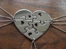 heart puzzle necklace images 5 piece puzzle heart necklace la necklace jpg