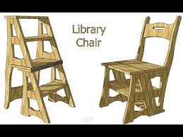 Library Chair Creating A Transforming Chair Ladder Youtube