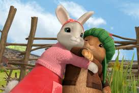 rabbit and benjamin bunny image bobtail hugging benjamin bunny on rabbit png