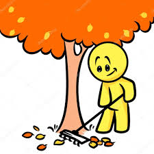 imagenes animadas de otoño sonriente personaje otoño limpieza deja dibujos animados árboles