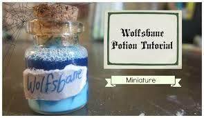 harry potter crafts mini wolfsbane potion youtube