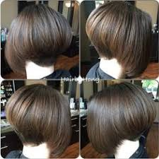how to cut hair in a stacked bob graduated bob with highlights to emphasise the cut easy to