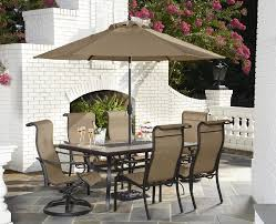 Patio Dining Table Set - furniture ideas patio dining set with umbrella and green cushion