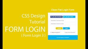 membuat form input menggunakan html cara membuat form login dengan html dan css desain pertama