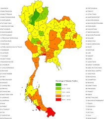 World Map Thailand by Choropleth Map Of Measles Seroprevalence In Young Thai Men 2007