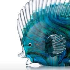 Home Blue Fish Best And Cheap Blue Blue Tropical Fish Glass Sculpture Home