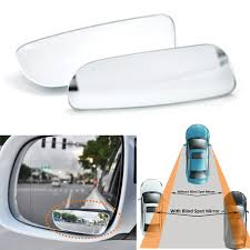 No Blind Spot Rear View Mirror Reviews 2pcs Car Blind Spot Adjustabe Mirrors Frameless 360 Degree Rotate