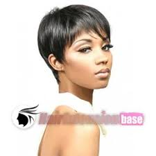 jet black short hair 3 inch straight short african american hair wigs 1 jet black