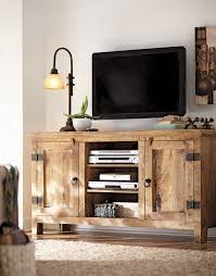 rustic media center free diy plans consoles free and woodworking got to love a weathered mango wood tv stand homedecorators com 12daysofdeals