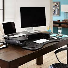 Height Of Computer Desk Height Adjustable Standing Desk Varidesk Pro Plus 36 From