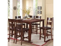 Espresso Dining Room Furniture by Holland House 8203 7 Piece Counter Height Dining Set With Square
