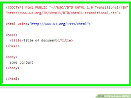 how to learn xhtml 9 steps with pictures wikihow