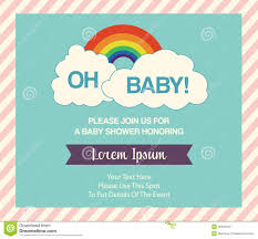 baby shower invitation template stock vector image 40402941