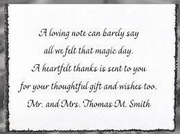 wedding gift quotes wedding thank you cards amazing wedding gift thank you card
