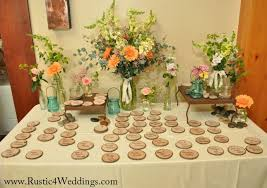 used wedding supplies wood slices used as cards for wedding
