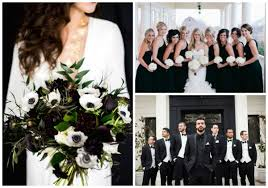black and white wedding classic black and white wedding ideas hotref party gifts 25th
