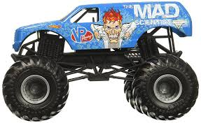 monster truck shows ma amazon com wheels monster jam mad scientist truck toys u0026 games