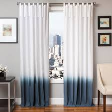 softline tie tab ombre cotton and linen curtain panel free