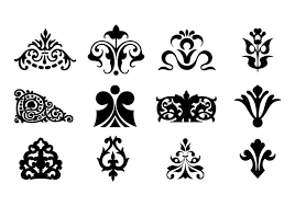 decorative ornaments for logo web and graphic design
