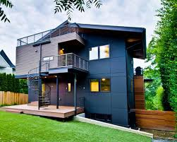 Modern Green Exterior Home Ideas  Design Photos Houzz - Modern green home design
