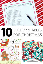 10 cute printables for christmas cards bingo coloring pages