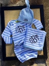 monogram baby items monogrammed baby boy gown gift set choose the pieces you want