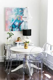 Overstock Dining Room Furniture by A Clear Beaded Chandelier By Overstock Illuminates A White Ikea