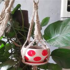plant stand balcony design wall planters roost macrame plant